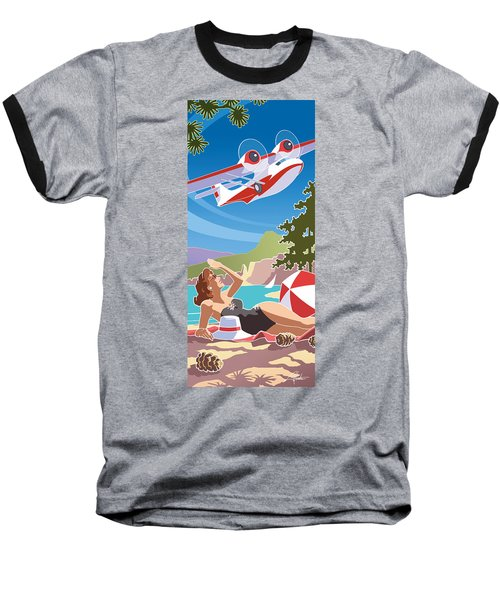 Catalina, Mid Century Travel Baseball T-Shirt