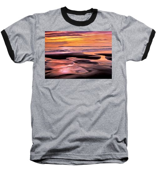 Baseball T-Shirt featuring the painting Catalina Sunset by Michael Pickett