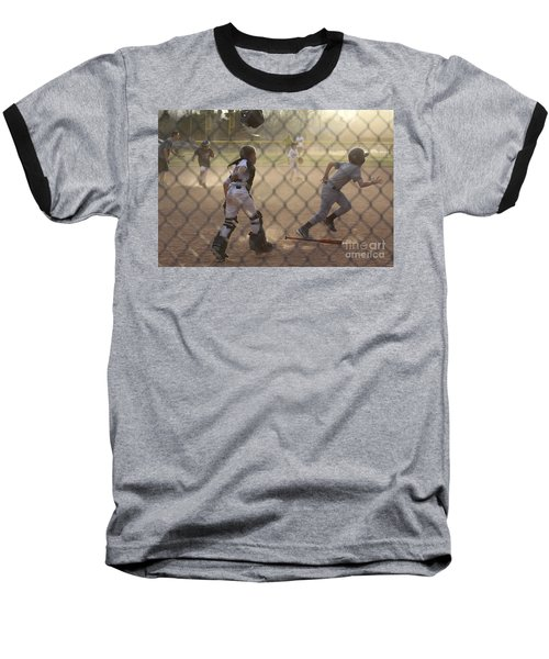 Catcher In Action Baseball T-Shirt