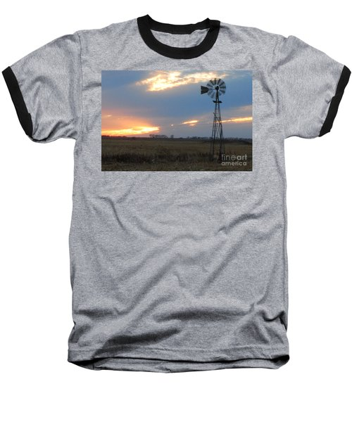 Catching The Wind In South Dakota Baseball T-Shirt by Mary Carol Story