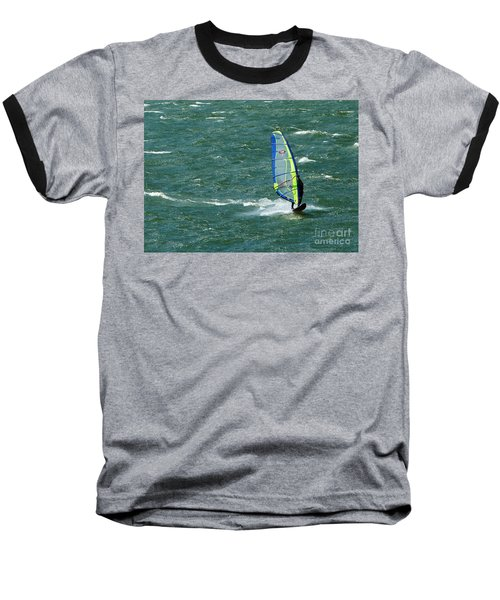 Catching Wind And Surf Baseball T-Shirt