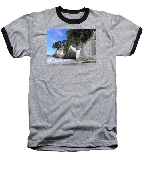 Cathedral Cove Baseball T-Shirt by Christian Zesewitz