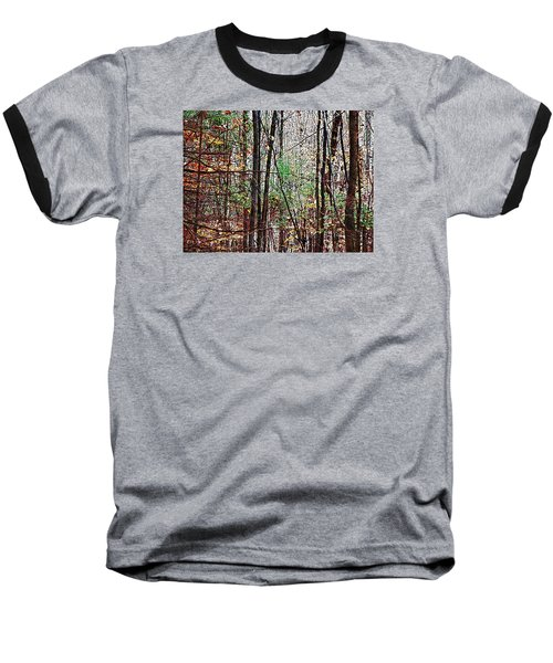 Cathedral In The Woods Baseball T-Shirt by Joy Nichols