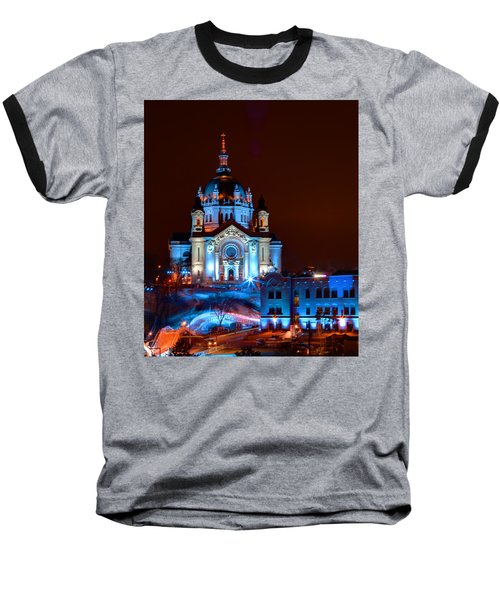 Cathedral Of St Paul All Dressed Up For Red Bull Crashed Ice Baseball T-Shirt