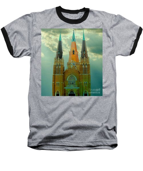 Cathedral Of The Holy Family  Baseball T-Shirt