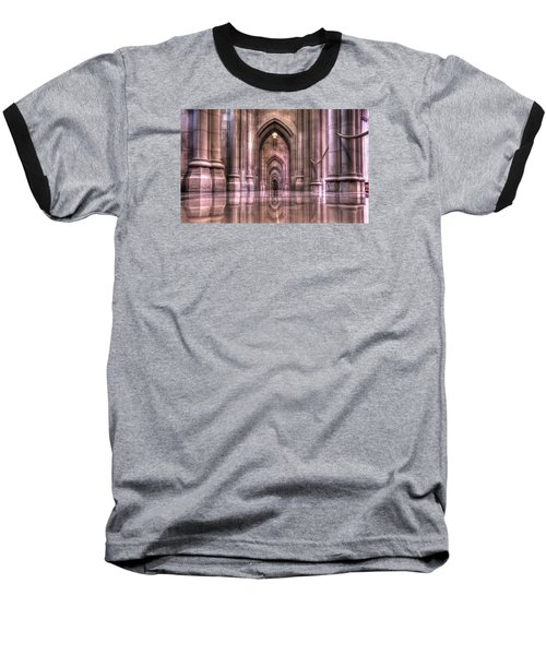 Cathedral Reflections Baseball T-Shirt by Shelley Neff