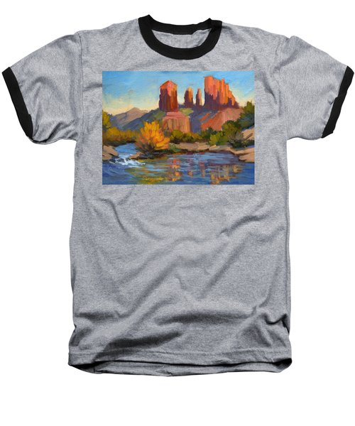 Cathedral Rock 2 Baseball T-Shirt by Diane McClary