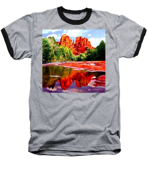 Cathedral Rock Sedona Arizona Baseball T-Shirt