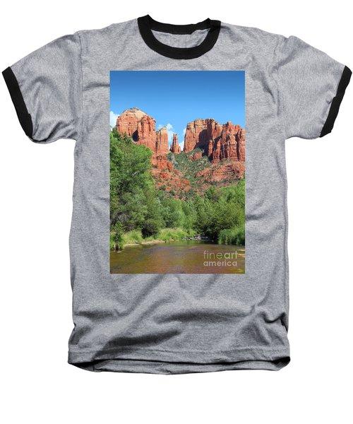 Cathedral Rock Sedona Baseball T-Shirt