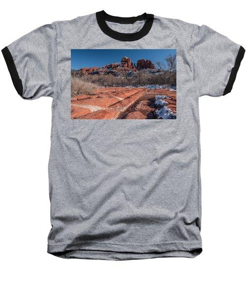 Cathedral Rock Winter Baseball T-Shirt