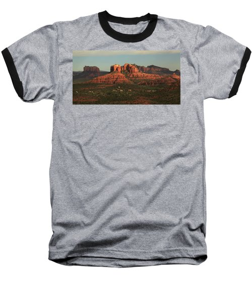 Baseball T-Shirt featuring the photograph Cathedral Rocks In Sedona by Alan Vance Ley