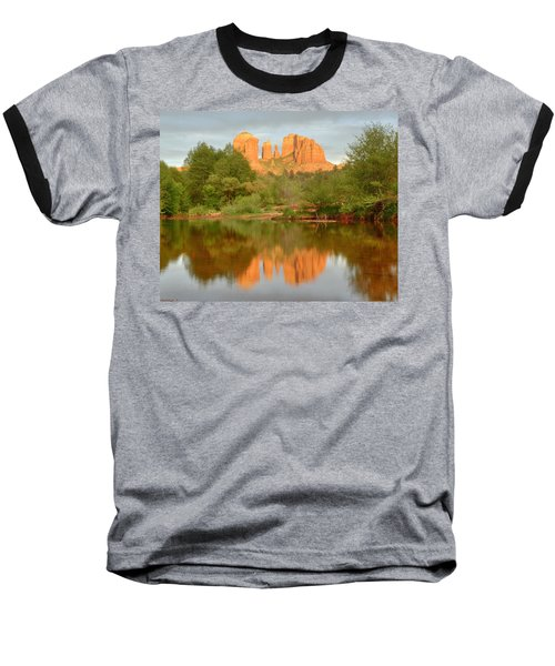 Baseball T-Shirt featuring the photograph Cathedral Rocks Reflection by Alan Vance Ley
