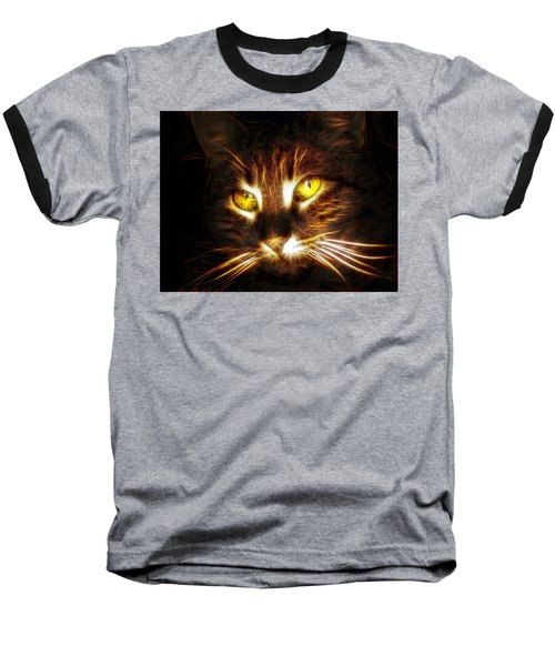 Cat's Eyes - Fractal Baseball T-Shirt