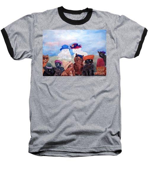 Cats In Hats Baseball T-Shirt