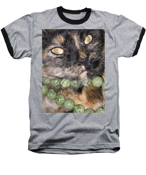 One In A Million... Beauty Of Cat's Eyes. Hello Pearl Collection Baseball T-Shirt