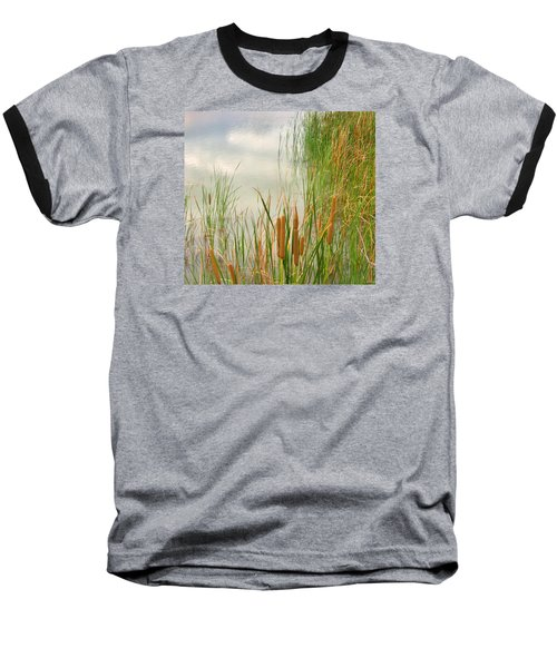 Baseball T-Shirt featuring the photograph Cattails by Marilyn Diaz