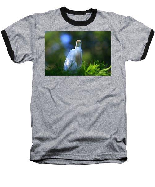 Cattle Egret Eyes Baseball T-Shirt