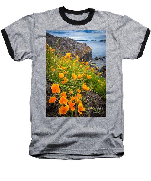 Cattle Point Poppies Baseball T-Shirt