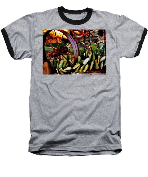 Baseball T-Shirt featuring the photograph Caught In A Cactus Patch-sold by Antonia Citrino