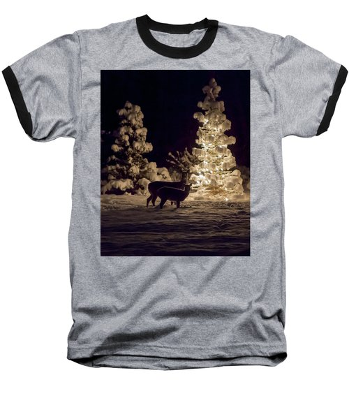 Baseball T-Shirt featuring the photograph Cautious by Aaron Aldrich