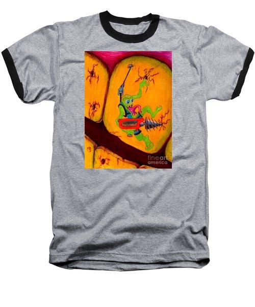 Baseball T-Shirt featuring the drawing Cavity Creep by Justin Moore