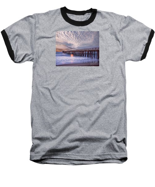 Cayucos Pier Baseball T-Shirt by Alice Cahill