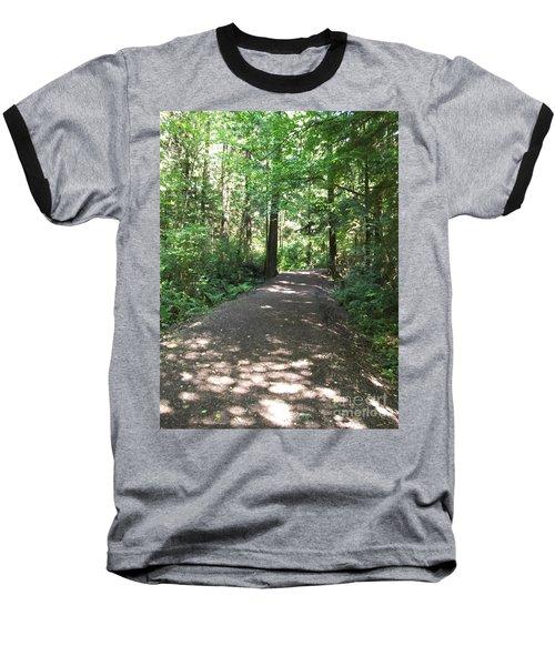 Baseball T-Shirt featuring the photograph Cedar Shadow Steps by Kim Prowse