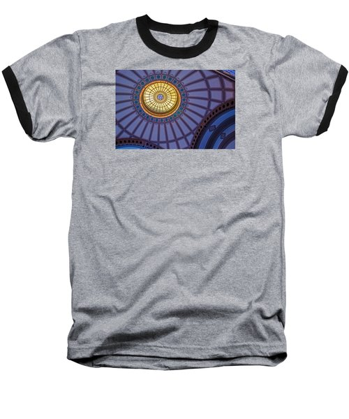 Baseball T-Shirt featuring the photograph Ceiling In The Chattanooga Choo Choo Train Depot by Susan  McMenamin