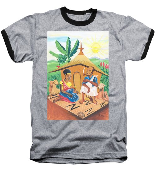 Celebration Of The Nativity In Rwanda Baseball T-Shirt by Emmanuel Baliyanga