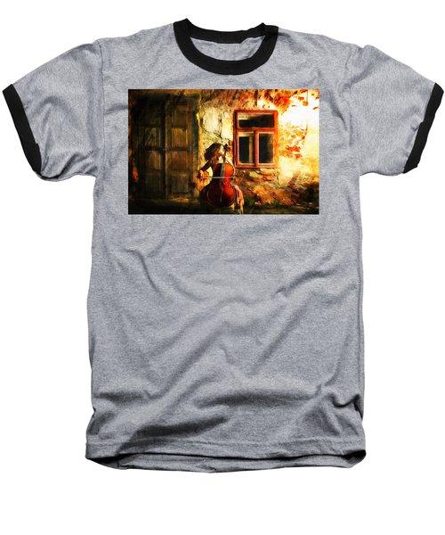 Cellist By Night Baseball T-Shirt
