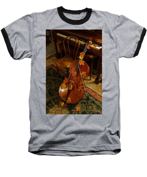 Cello Autumn 1 Baseball T-Shirt by Mick Anderson