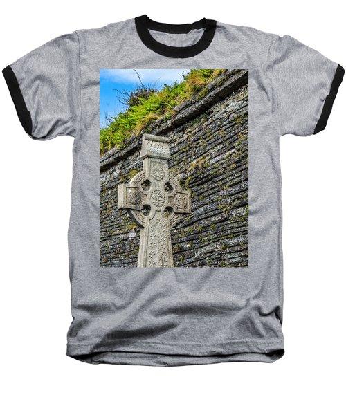 Celtic Cross At Kilmurry-ibrickan Church Baseball T-Shirt