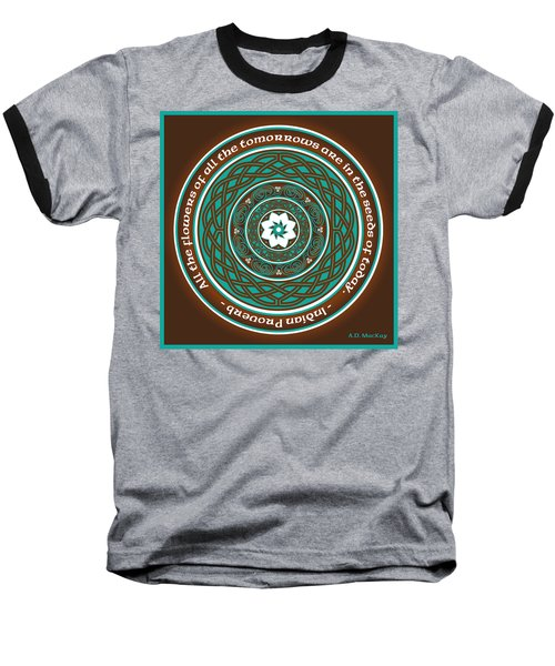Celtic Lotus Mandala Baseball T-Shirt