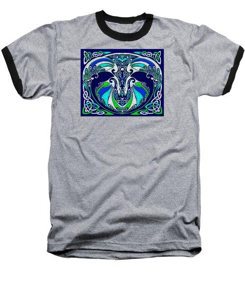 Celtic Love Dragons Baseball T-Shirt