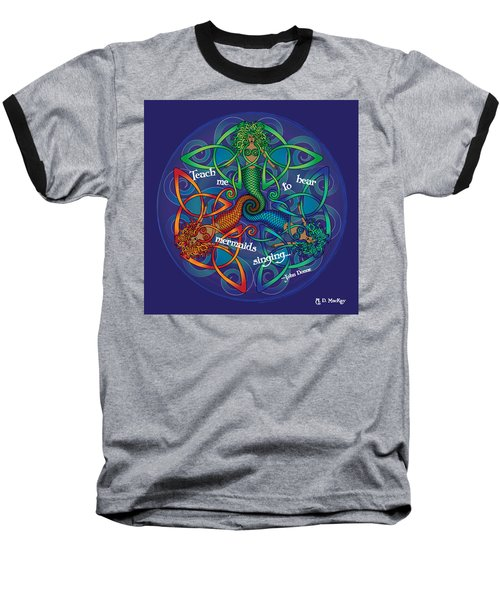 Celtic Mermaid Mandala Baseball T-Shirt