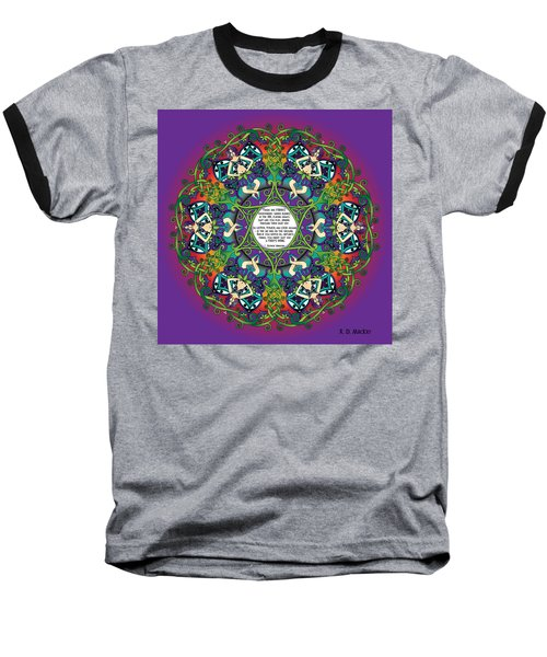 Celtic Spring Fairy Mandala Baseball T-Shirt