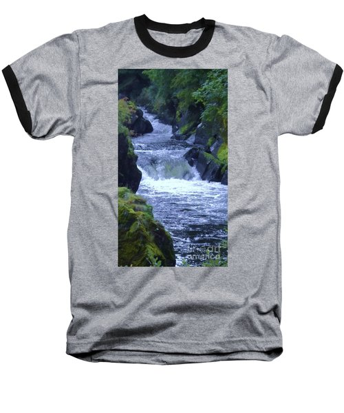Baseball T-Shirt featuring the photograph Cenarth Falls by John Williams