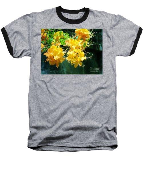 Centered Yellow Floral Baseball T-Shirt