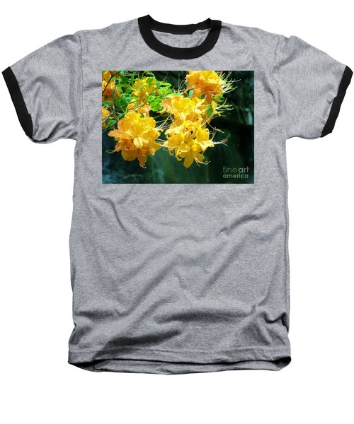 Centered Yellow Floral Baseball T-Shirt