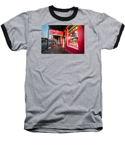 Baseball T-Shirt featuring the photograph Central Grocery And Deli In New Orleans by Andy Crawford