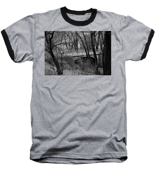 Central Park 2 Black And White Baseball T-Shirt