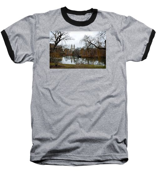 Central Park And San Remo Building In The Background Baseball T-Shirt by RicardMN Photography