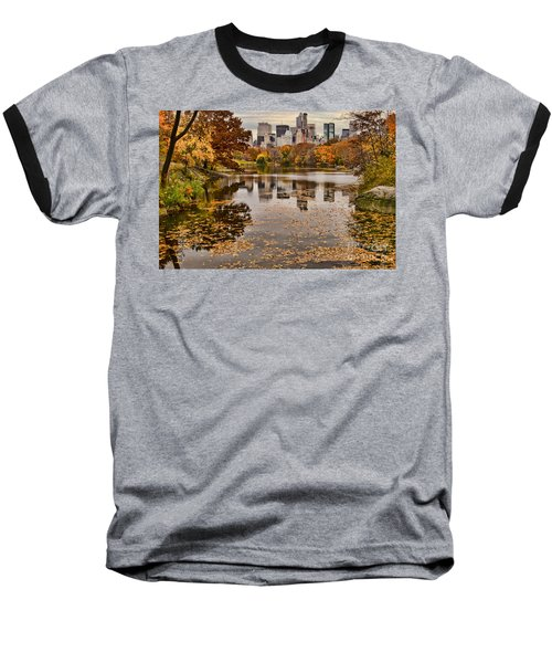 Central Park In The Fall New York City Baseball T-Shirt