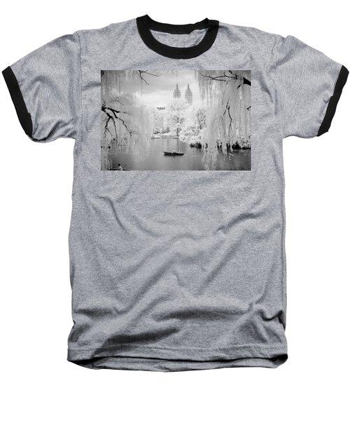 Central Park Lake-infrared Willows Baseball T-Shirt