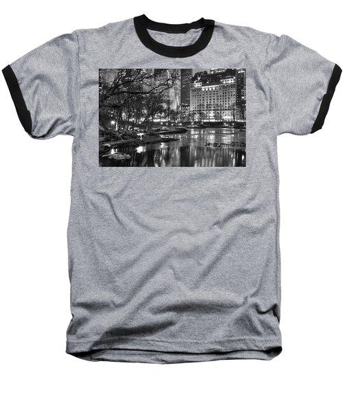 Central Park Lake Night Baseball T-Shirt