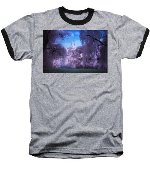Central Park Lake Willows Color Baseball T-Shirt