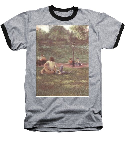Baseball T-Shirt featuring the painting Central Park Nyc by Walter Casaravilla