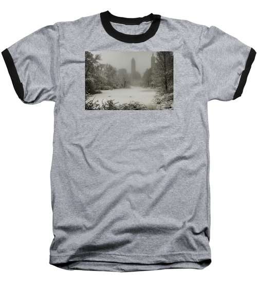 Baseball T-Shirt featuring the photograph Central Park Snowstorm by Chris Lord