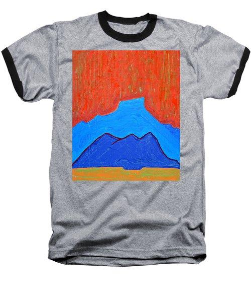 Cerro Pedernal Original Painting Sold Baseball T-Shirt by Sol Luckman
