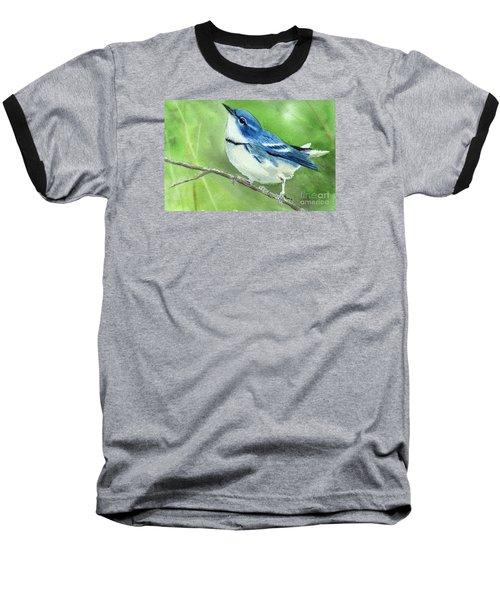 Cerulean Warbler Baseball T-Shirt